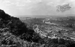 Briton Ferry, View From The Woods c.1950