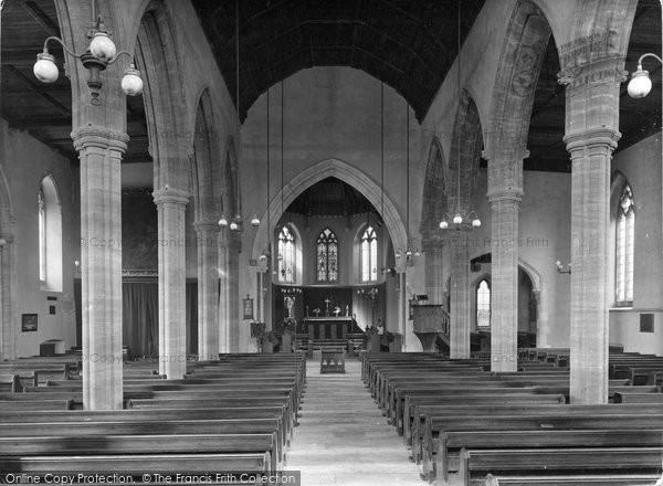 Brixham, All Saints Church Interior 1922