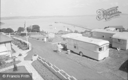 Brixham, Bay View Holiday Camp And Breakwater 1955