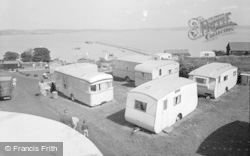 Brixham, Bay View Holiday Camp And The Breakwater 1955