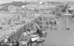 Brixham, Bay View Holiday Estate From The Harbour 1951