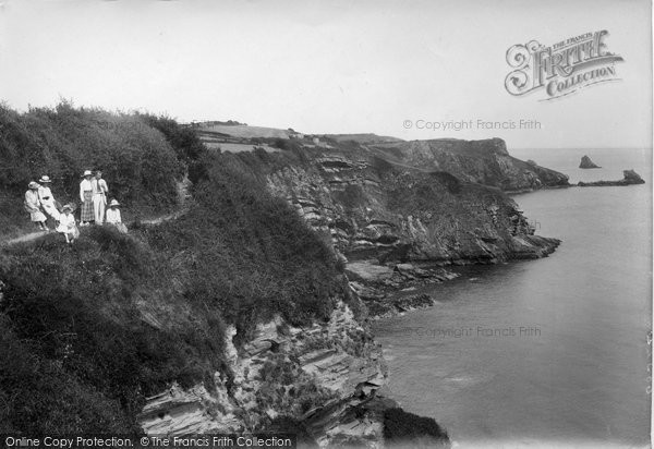 Brixham, Cliff Path, Mudstone 1918