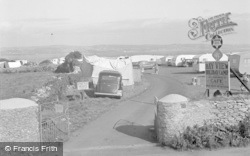 Brixham, Entrance To Bay View Holiday Estate 1951