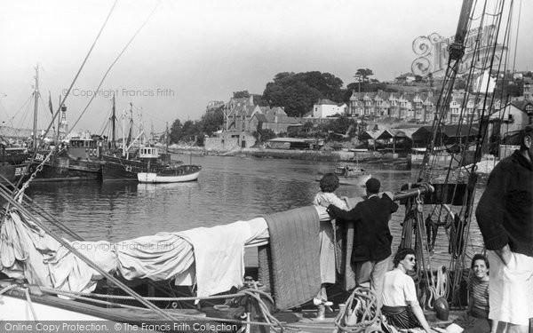 Brixham, Entrance To Inner Harbour c.1955