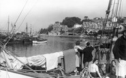 Brixham, Entrance To Inner Harbour c.1955