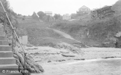 Brixham, Fishcombe Beach And Torbay Chalet Camp c.1939