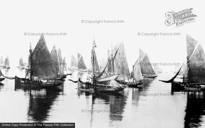 Brixham, Fishing Boats 1889