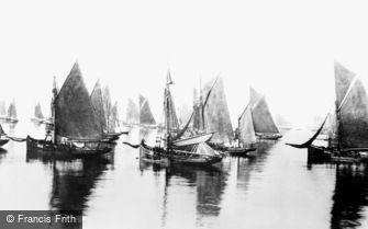 Brixham, Fishing Boats (Trawlers) 1889