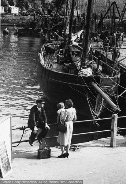 Brixham, In The Harbour c.1955