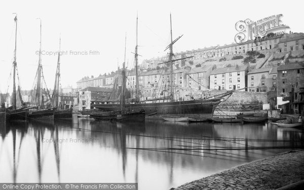 Brixham, Inner Harbour 1889