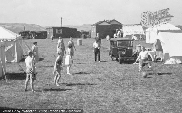 Brixham, Louville Camp, A Game Of Football 1938