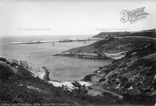 Brixham, New Breakwater At Churston Quay 1918