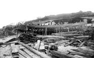 Brixham, Shipbuilding Yard 1904