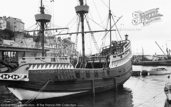 Brixham, The Harbour c.1965