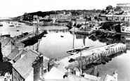 Brixham, the Harbour from Overgang 1925