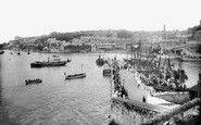 Brixham, The Pier And Landing Stage 1918