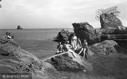 Brixham, The Rocks Bathing Place c.1933