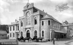 Brixham, Town Hall And Market Hall 1889