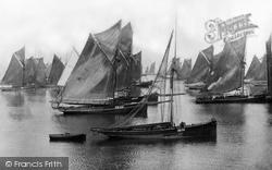 Brixham, Trawlers, Waiting For A Breeze 1889