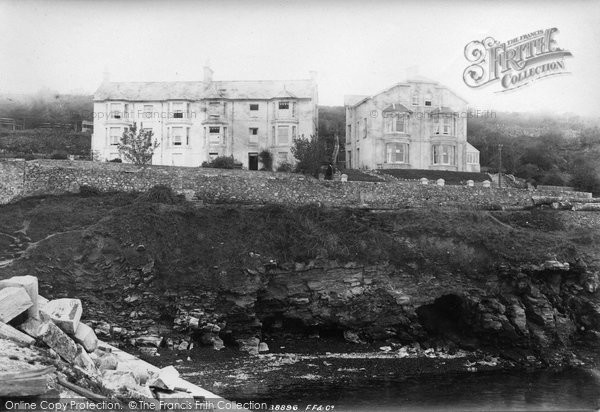Brixham, Villas From Breakwater 1896