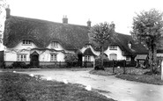 Broad Hinton, Cottages and Village Well c1945