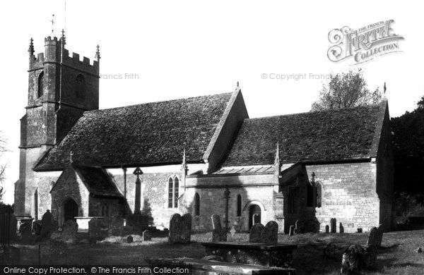 Broad Hinton, St Peter's Church c.1955