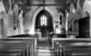 Broad Hinton, The Church Interior c.1955
