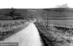Broad Hinton, The White Horse c.1955