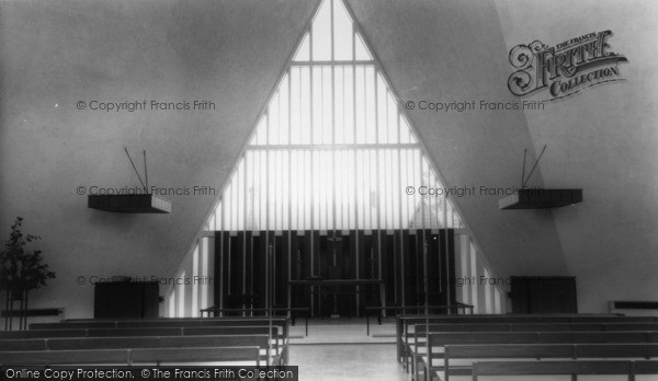 Photo of Broadbridge Heath, Church Of St John Interior c.1965