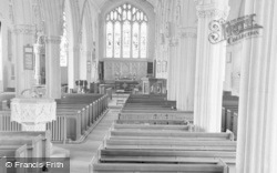 Broadclyst, Church Interior c.1950