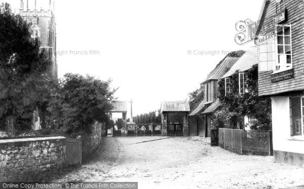 Broadclyst, Church and Lych Gate 1907