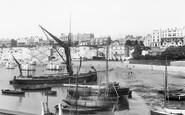 Broadstairs, Thames Barge On The Beach 1897