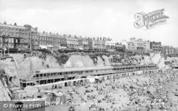 Broadstairs, The Cliffs And Sands 1951