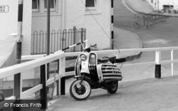 Broadstairs, The Jetty, A Scooter 1965