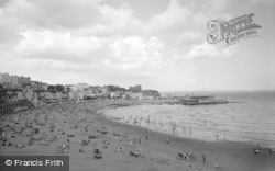 Broadstairs, View Of The Beach From Cliff Top 1962