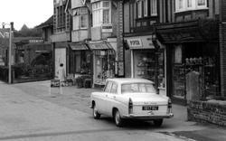 Shops Along Station Road c.1960, Broadstone
