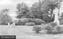 Broadstone, The Memorial Park c.1960