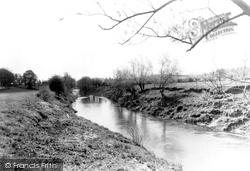 Broadwas, The River Teme c.1955