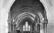 Broadwater, St Mary's Church Interior 1919