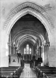 Broadwater, St Mary's Church Interior 1919