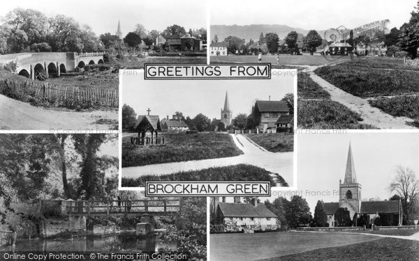 Brockham, Composite c.1955