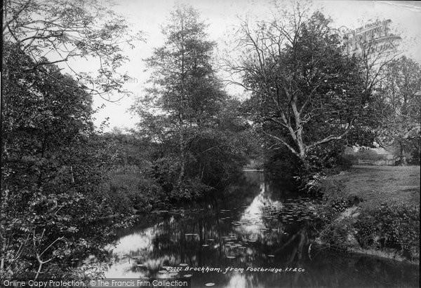 Brockham, From Footbridge 1900