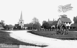 Brockham, The Green And Christ Church 1900