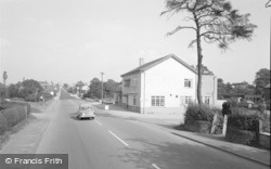Broken Cross, The Cock Inn And Knutsford Road 1966