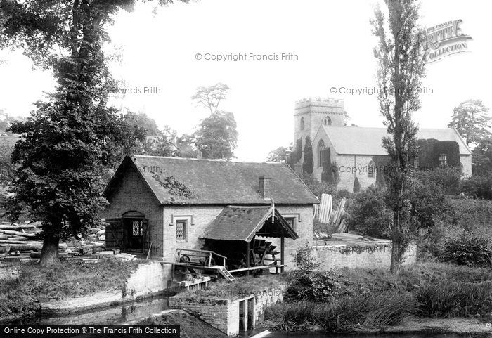 Bromfield,Mill and Church 1892,Shropshire