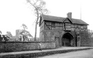 Bromfield, The Priory Gatehouse And Church 1892