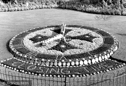 Bromley, The Floral Clock, Church House Gardens c.1955