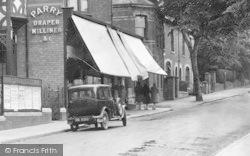 Bromsgrove, New Road, Draper's Shop 1931