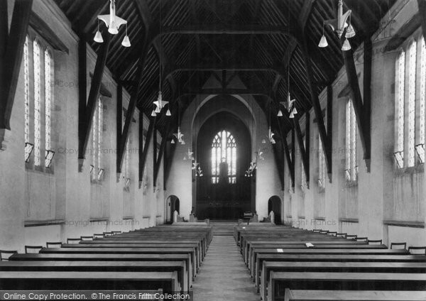 Bromsgrove, School, Chapel Interior c.1955