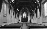 Bromsgrove, School, Chapel interior c1955